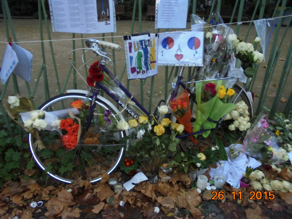 Bike tribute, Bataclan, Paris